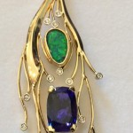 designed gold and gemstone pendant by Terry Quinn Quinn http://quinnsgoldonline.com